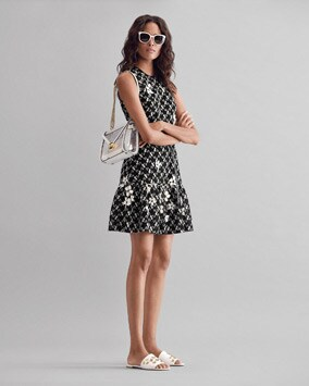 Embroidered Dress, Whitney Shoulder Bag, Lacey Slide, Bal Harbour Sunglasses